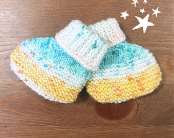 Knitted baby Boots / Slippers - 6 months baby shoes