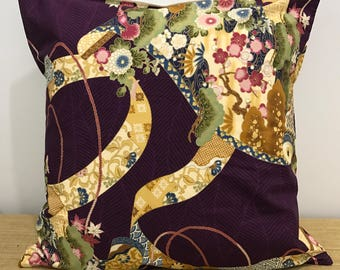 """Chinese Floral Design Cushion Cover Pillow Case. 18"""" (45cm). Cushion Covers Australia., Chinese Decor"""