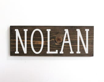 Nursery Name Sign, Nursery Farmhouse Sign, Personalized Baby Sign for Boy, Personalized Nursery Name Sign, Baby Name Sign Wood