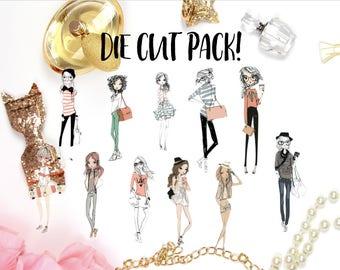 Doodle Fashionistas Die Cut Pack!