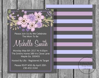 Baby Shower Invitation / Baby Shower Invitation Girl / Baby Shower Invitation Girl Printable / Floral Baby Shower Invitation / Shower Invite