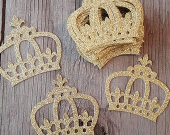 Royal Prince Glitter Crown Diecuts-Prince Crown DIY diecuts-Dyi crown diecuts-Boy glitter crown glitter diecut-crown diecuts-Prince Crowns