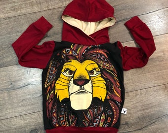 Simba, lion King, baby romper, handmade baby clothes, baby bodysuit, custom baby clothes, trendy toddler clothes, lion guard