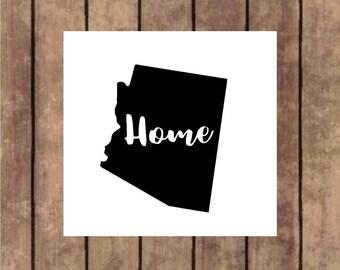 Arizona home decal, Arizona decal, Arizona car decal, Arizona mug decal, Arizona tumbler decal