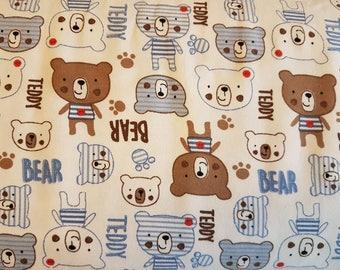 Teddy Bears , Cotton Lycra Jersey Knit Fabric