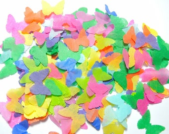Butterfly confetti multicolored wedding anniversary - 25 handles (handmade)