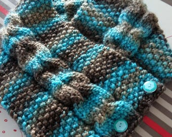 Snood neck hand knitted