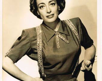 Joan Crawford - circa 1940's - 8x10 B&W publicity photo