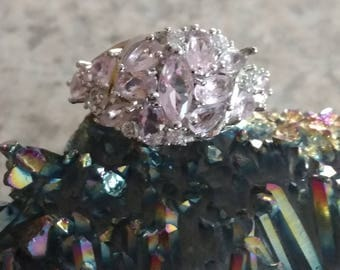 Pink Topaz Party Ring Size 7