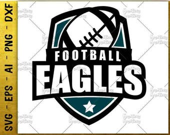 Football Eagles badge emblem svg football svg decal rint Cutting cut Files Cricut Silhouette Cameo instant download Vector SVG EPS dxf PNG