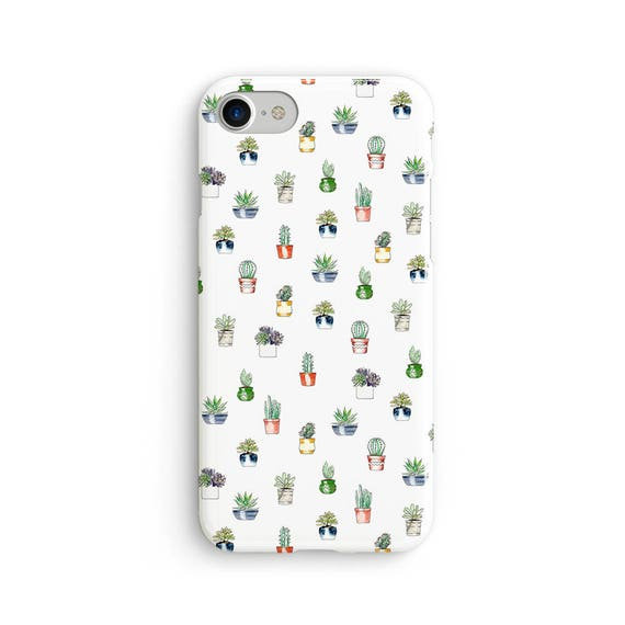 Cute cactus pattern - iPhone 7 case, samsung s7 case, iphone 7 plus case, iphone se case 1P029