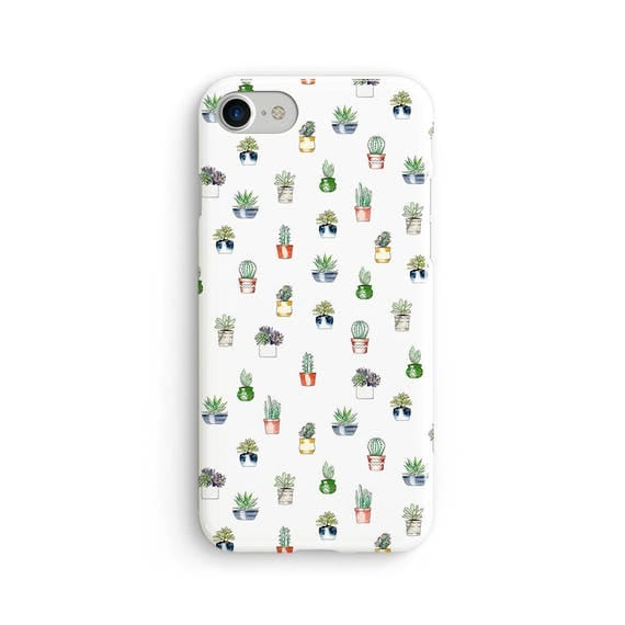 Cute cactus pattern  iPhone X case - iPhone 8 case - Samsung Galaxy S8 case - iPhone 7 case - Tough case 1P029