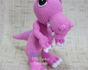 PATTERN-T Rex-Crochet Pattern, pdf