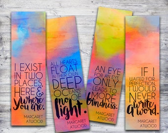 Printable Bookmarks, Margaret Atwood Quotes, Inspirational Quote Printable, Book Lover Gift
