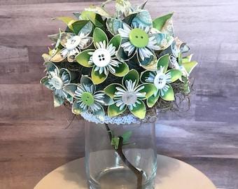 Wedding Centerpiece, kusudama, origami centerpiece, origami crane, floral arrangement, paper flowers, origami flowers, wedding flowers