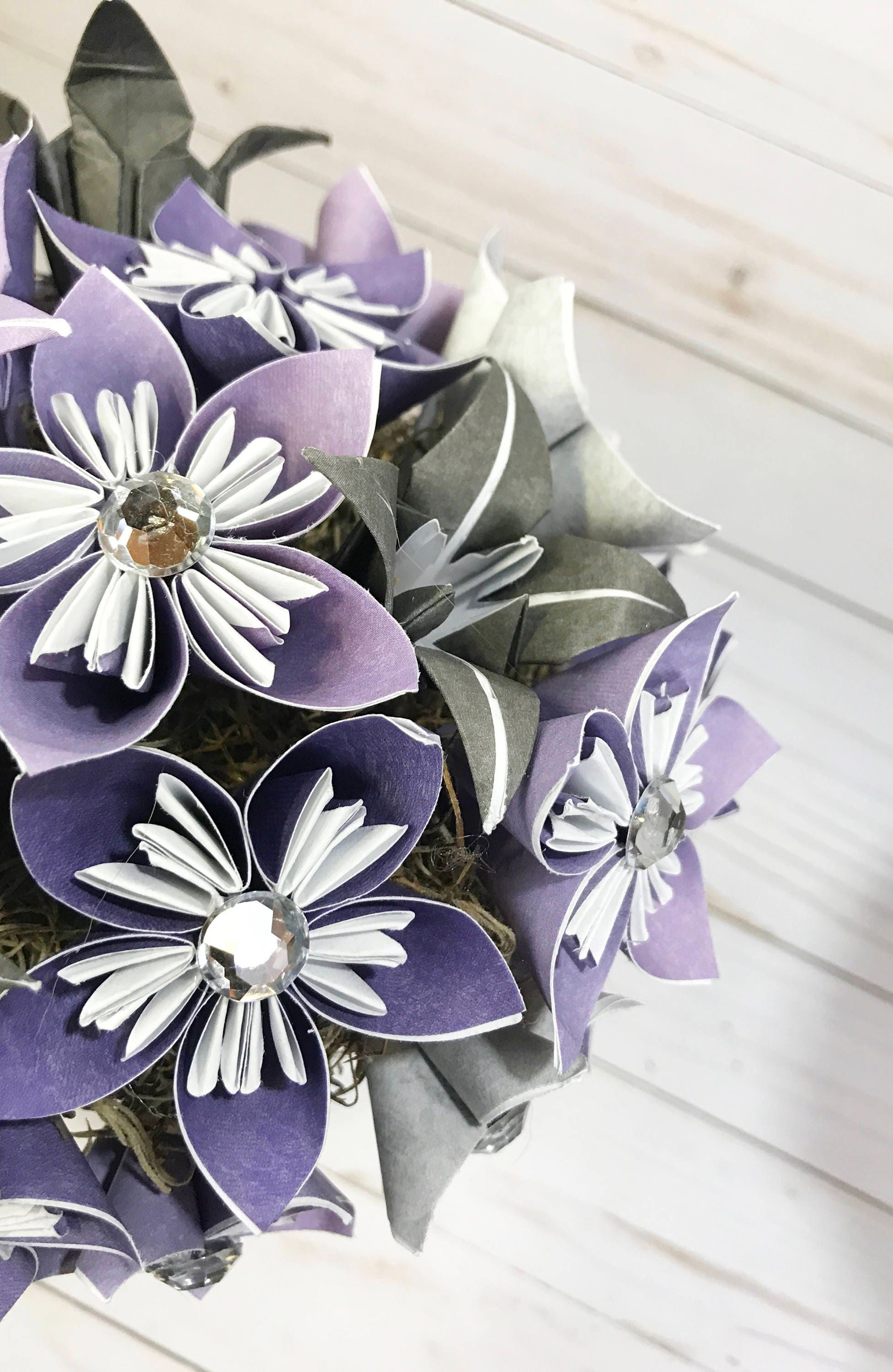Paper Flowers Wedding Centerpiece Wedding Bouquet Origami Flowers