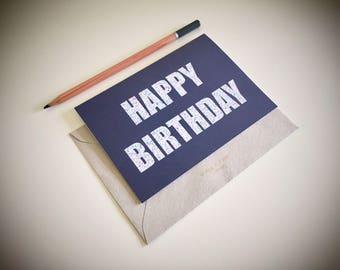 Confetti XL Birthday Card Charcoal Background