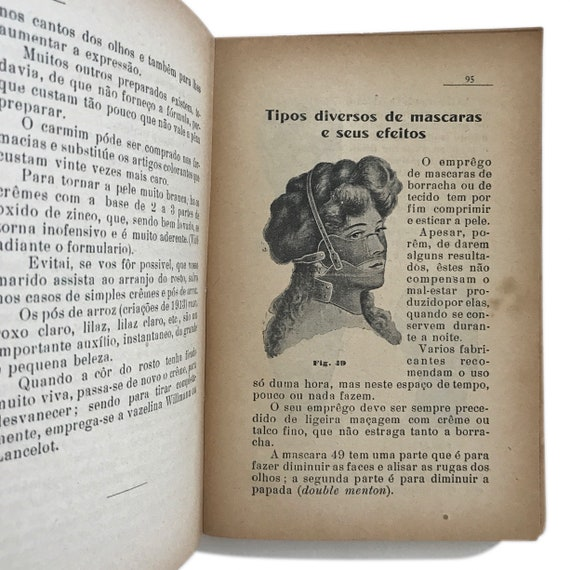 Tratado Geral da Beleza, 1914. Super rare Edwardian-era Portuguese beauty guide, with bizarre beauty inventions, perfume recipes, and more.