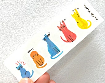 Happy Cats - Temporary Tattoos // Cool // Cute // Hipster // Summer // Party