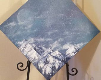Mountain scape oil on canvas