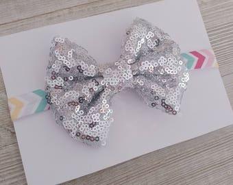 Hair bows, baby headband, sparkle bow