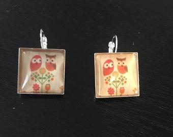 Owl leverback earrings