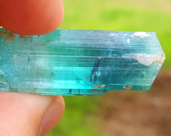 WOW 82 Carat Beautiful Blue Color Tourmaline Crystal@Afghanistan