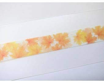 Fall Autumn Maple Leaves Washi Tape Sample 24""