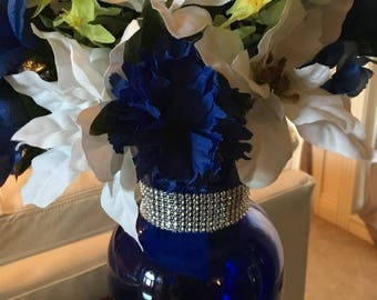Royal Blue floral centerpiece