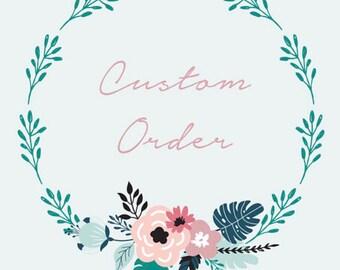 Custom flower crown for Jessie