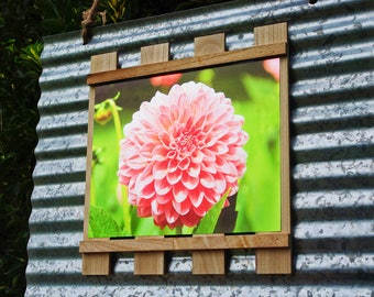 Flower Foilgraph on Mini Pallet and Corrugated Metal