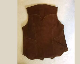Men's Vintage Pioneer Wear Leather Vest size 40