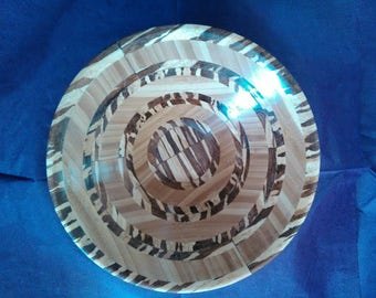 Zebra and acacia Wood bowl .