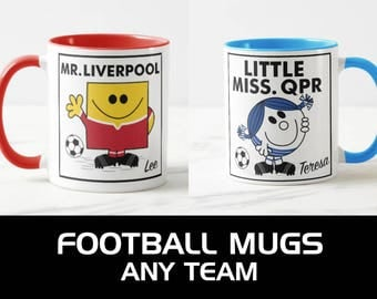 Football mugs (any team) - personalised