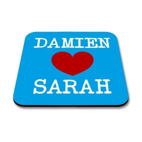Personalised Valentines Coasters. Anniversary Coasters. Love Coasters.