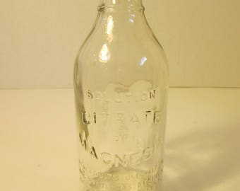 Citrate of Magnesia Bottle Clear No Stopper