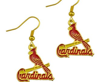 St. Louis Cardinals Baseball Fashion Earrings