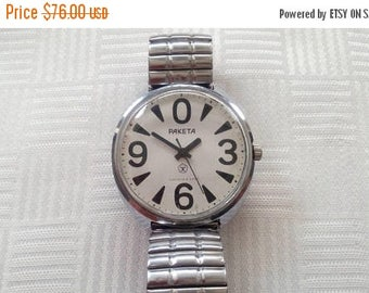 SALE Raketa ZERO, Soviet watch raketa, big watch, mechanical wrist watch