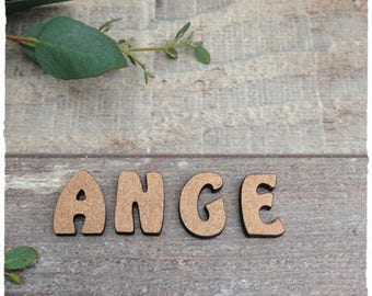 Small height 2 cm thickness 3mm raw wooden letters