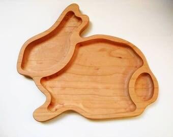 Bunny breakfast board - frühstücksbrett - German sandwich board - toddler snack board - wooden breakfast board - Waldorf - Easter gift