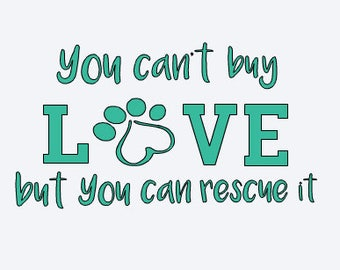 Wall Decor - Pet Rescue Car Decal - Pet Rescue Decal - Dog Lover Decal - Paw Print Decal - Yeti Pet Decal - Yeti Dog Decal - Yeti Cat Decal