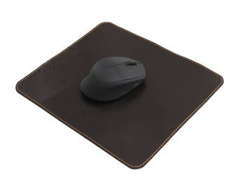 Leather Mouse Pad Real Leather Mouse Mat Leather Mouse Pad JoyToken® -Dark Brown