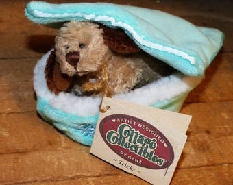 Cottage Collectible by Ganz Tricks with dog bed - 1388