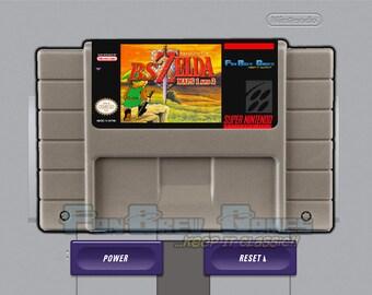 """IN STOCK! """"BS The Legend Of Zelda"""" Both Maps Unreleased 16-bit Zelda Remake Super Nintendo!"""