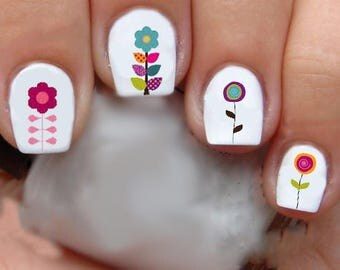 1329 Flowers Waterslide Nail Art Decals Enough For 2 Manicures