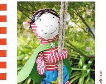Louie Super monkey a doll pattern.