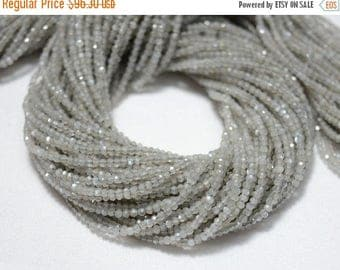 40% Discount 5 Strands, Grey Moonstone Beads, 2 MM Micro Faceted Rondelles Beads, Moonstone Rondelles, Gemstone beads 13.5 Inch