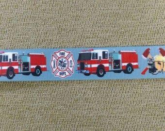"""7/8"""" Firefighter grosgrain ribbon"""