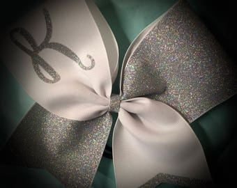 GLITTER Cheer Bow Your Text, Initial, Team Many Colors Hair Bow Personalized Bow