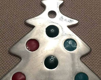 Christmas Tree, Silver 925 Pendant, Without Chain, Beautiful
